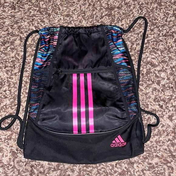 Black Adidas Cinch Bag